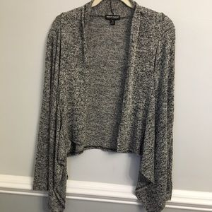 About a Girl Open Front Waterfall Cardigan Sweater